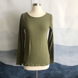 J. Crew Army Green Painter T-Shirt Tee